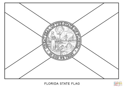 Florida Flag Coloring Page flag of florida coloring page free printable coloring pages