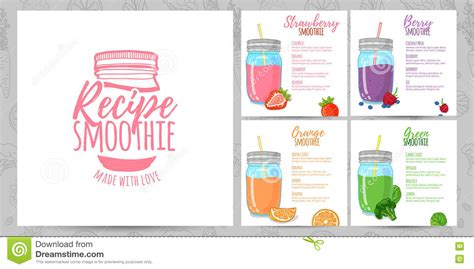 Template Design Banners Brochures Menus Flyers Smoothie Recipes Design Menu With Recipes And Smoothie Website Template