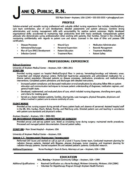 Sample Rn Nursing Resume – Nursing Resume Sample & Writing Guide   Resume Genius