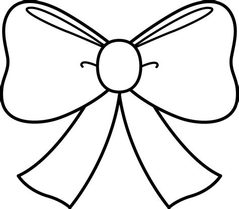 cute bow coloring page bow clipart coloring pages