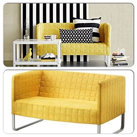 ikea yellow leather sofa knopparp ikea 2 seater yellow with removable cover