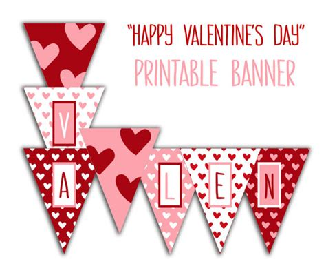 happy valentines day printable happy s day banner printable