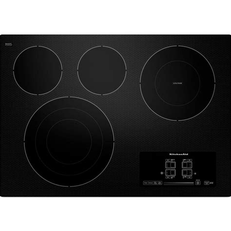 Ceramic Glass Cooktop Kitchenaid 30 In Ceramic Glass Electric Cooktop In Black