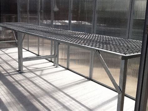 aluminum greenhouse benches shelving units argosee greenhouse technology