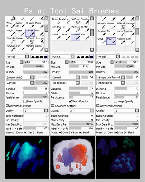 paint tool sai user guide paint tool sai brushes 2 by isihock on deviantart