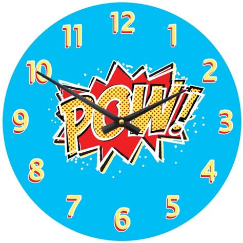 Bedroom Ideas For Boys by Boys Wall Clock Pow Superhero Design