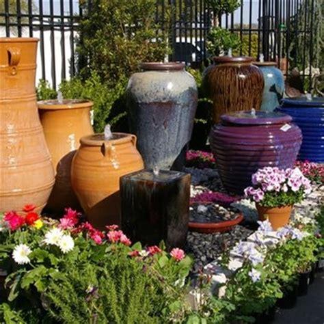 outdoor fountain materials stone fiberglass ceramic
