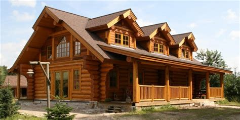 ranch style log home