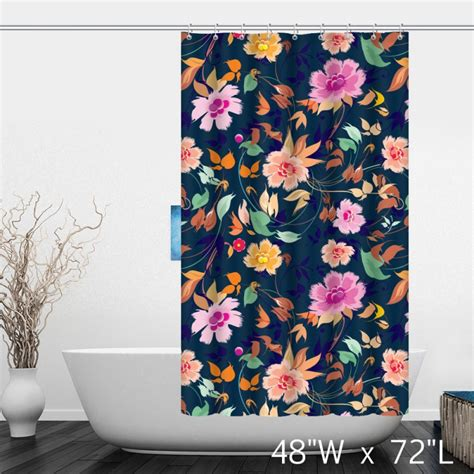 hand painted shower curtains hand painted flower floral shower curtain custom shower