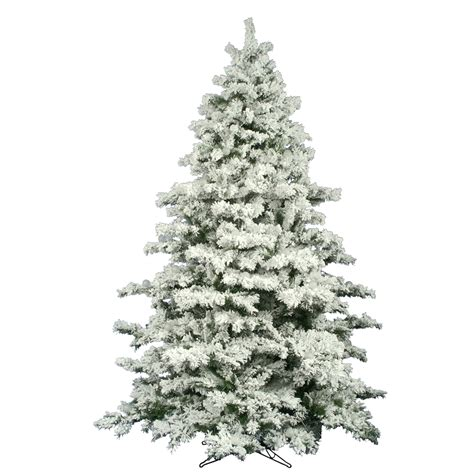 10 foot flocked alaskan christmas tree unlit a806385