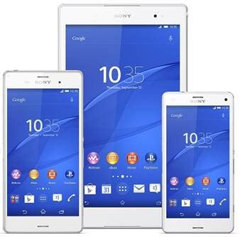 Dus Xperia Z3 sony presenteert xperia z3 tablet compact tablet guide