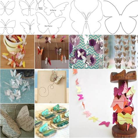Diy Beautiful Butterfly Decoration From Templates Templates Decorations