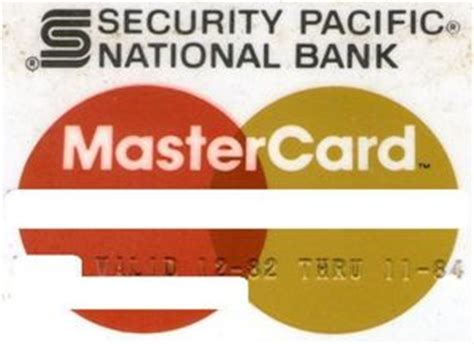 master card national bank bank card mastercard security pacific national bank
