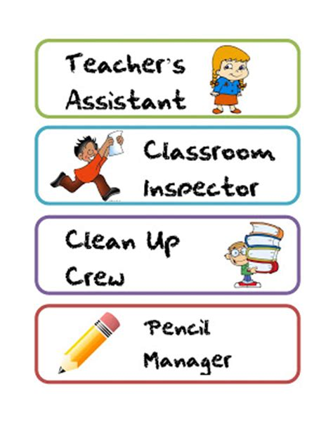 printable job labels free printable classroom job labels quot that s what the
