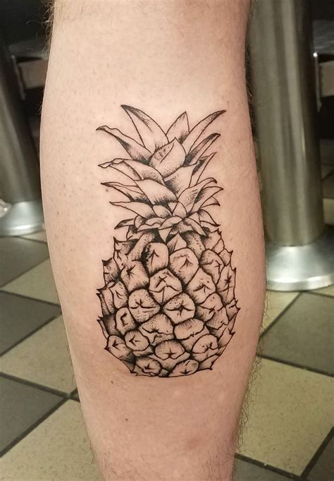 kj tattoos pineapple by kj robinson at magick