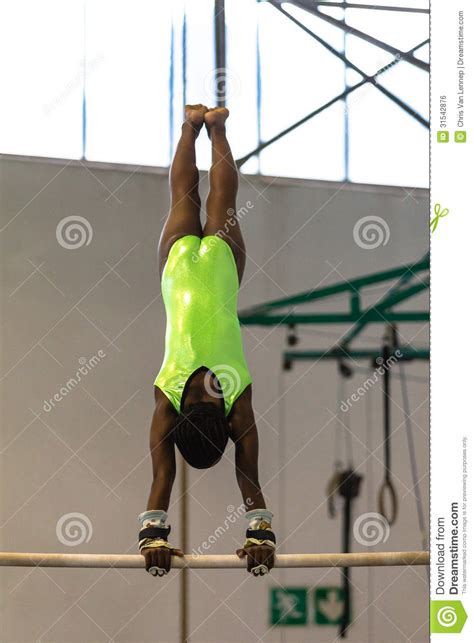 gymnastic swing gymnastics girl bars swing editorial photo image 31542876