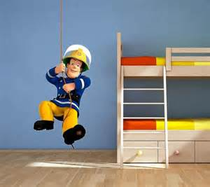 Fireman Sam Wall Stickers fireman closet wall murals fireman room fireman sam bedroom