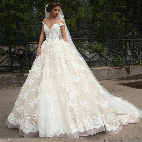 wedding dresses on a budget nz princess lace wedding dresses 2016 sheer arbic tulle a line applique capped bridal gowns