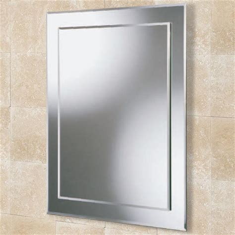 bathroom mirror bevelled edge hib linus rectangular bevelled edge bathroom mirror w500 x