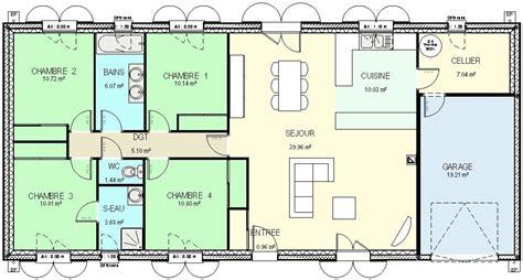 plan maison plain pied 4 chambres gratuit plan maison 4 chambres plain pied gratuit bricolage maison