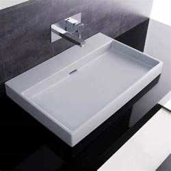 Designer Bathroom Sinks Urban 70 White Wall Mount Or Countertop Bathroom Sink
