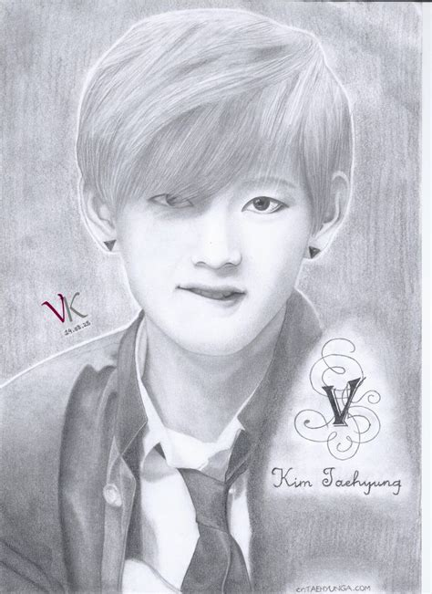 V Drawing Jimin by Pencil Drawing Taehyung V Bts Taehyung