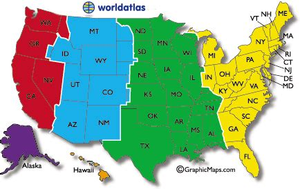 map of the united states showing time zones current dates and times in u s states map