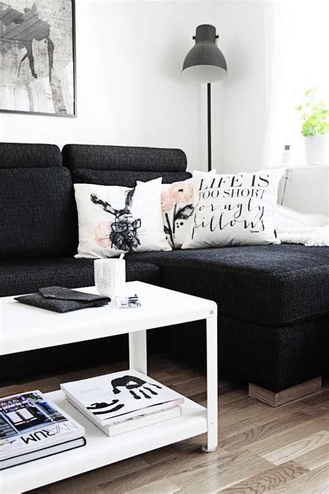 black white couch best 20 black couch decor ideas on pinterest