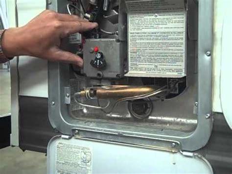 travel trailer pdi propane, hot water heater youtube