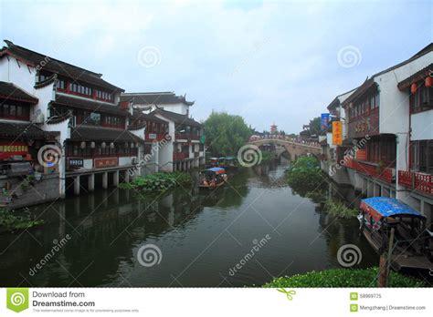 Modern Qibao 3 oude stad qibao shanghai redactionele afbeelding