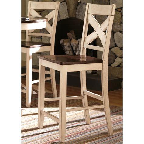 white cross back counter stool limonium antique white cross back counter stools set of 2