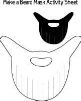 printable beard mask printable pirate hat and eye patch craft sheet