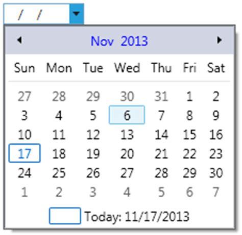 format date xaml calendar datepicker for wpf