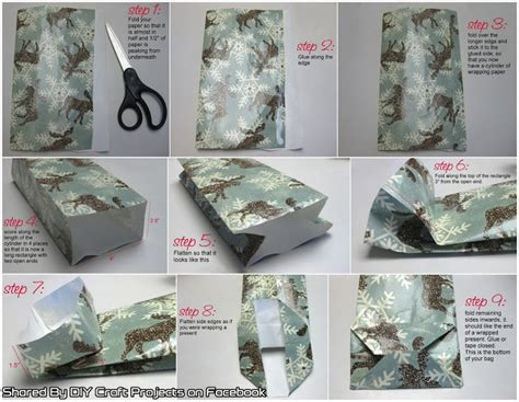How To Make A Bag From Wrapping Paper - gift bags out of wrapping paper diy craft projects