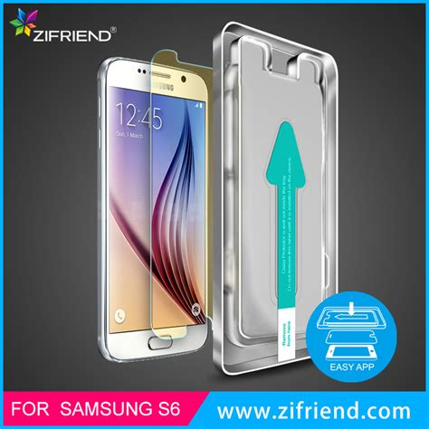 005095 Glass T S Samsung S6 Edge Blue Black fitting edge tempered glass screen protector for