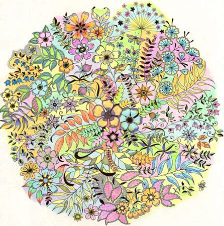 secret garden colouring book coloured in yay coloring page 4 freethought forum