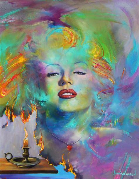 Marilyn Monroe Art image marilyn monroe a painted lady jim warren