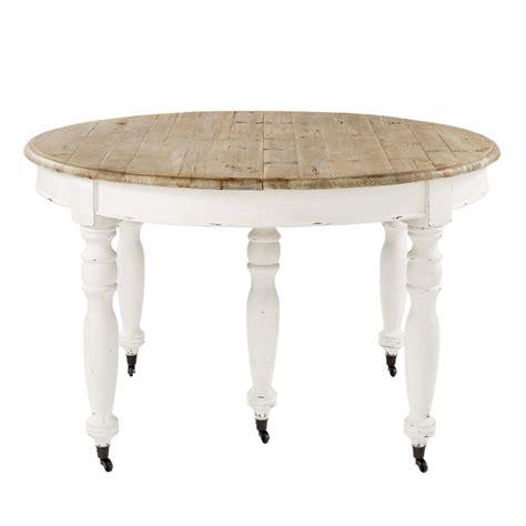 table de salle 224 manger 224 rallonges et roulettes en bois l