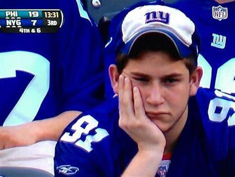 york giants fans photo giants season summed up by one fan s really sad
