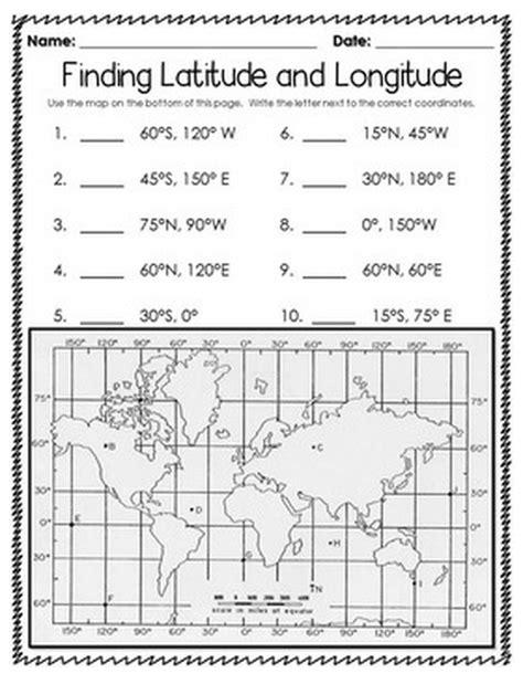 printable quiz on latitude and longitude longitude and latitude writing worksheets for all