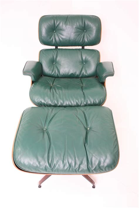 green leather chair and ottoman rosewood eames lounge chair and ottoman for herman miller