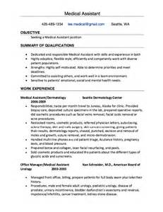 Dermatology Assistant Sle Resume by Assistant Dermatology Resume Resumes Design