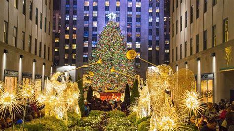 weihnachtsmarkt new york rockefeller christmas new york rockefeller center tree and lights 2017