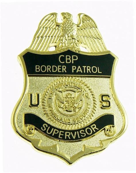 border patrol badge logo u s border patrol supervisor badge refrigerator magnet ebay