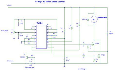 24v dc motor speed controller circuit diagram 12v 24v pwm motor controller circuit using tl494 irf1405