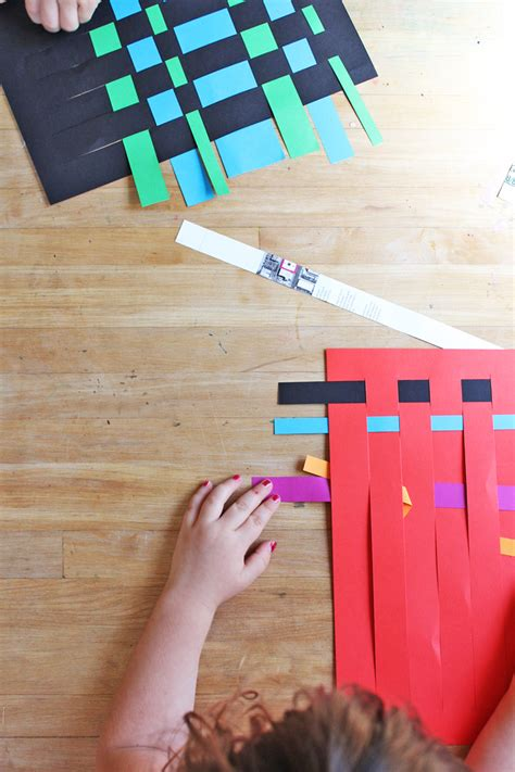 to make with children for paper weaving babble dabble do