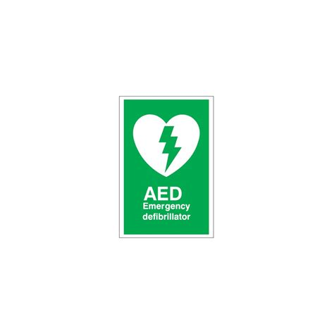 aed emergency defibrillator sign from parrs uk