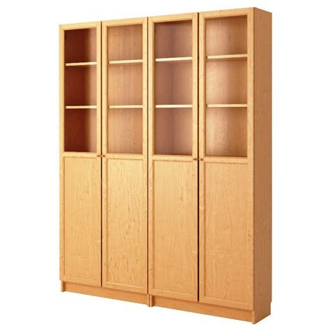 billy doors white bookcase cabinet with doors x3
