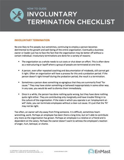 termination checklist template employee termination checklist for small business