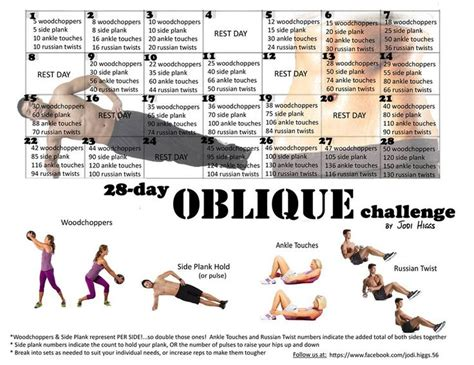 28 day oblique challenge 30 day challenges